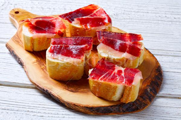 iberian ham from Spain tapas pinchos Stock photo © lunamarina