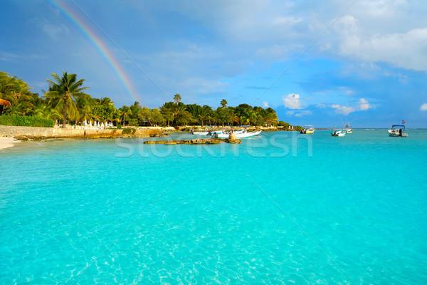 пляж Мексика радуга небе воды лет Сток-фото © lunamarina