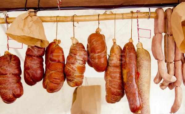 Sosis İspanya gıda inek kırmızı Stok fotoğraf © lunamarina
