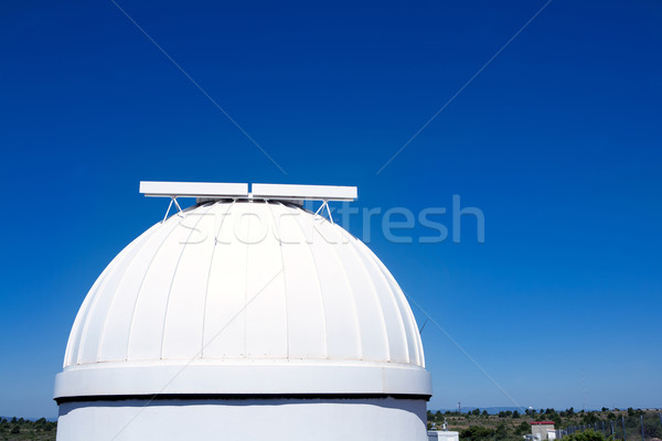 astronomical observatory dome in blue sky Stock photo © lunamarina
