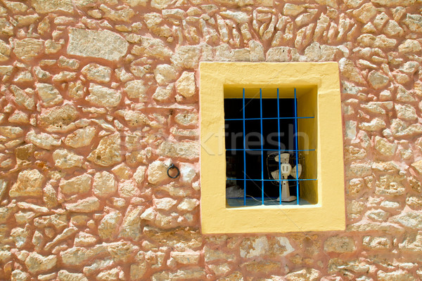 Mediterranean window in formentera Stock photo © lunamarina