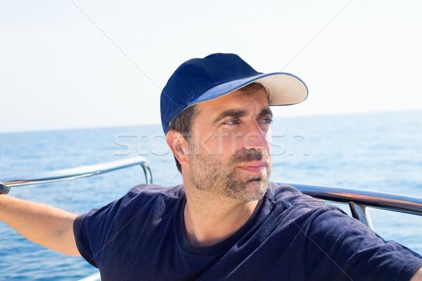 моряк человека лодка лук Cap Сток-фото © lunamarina