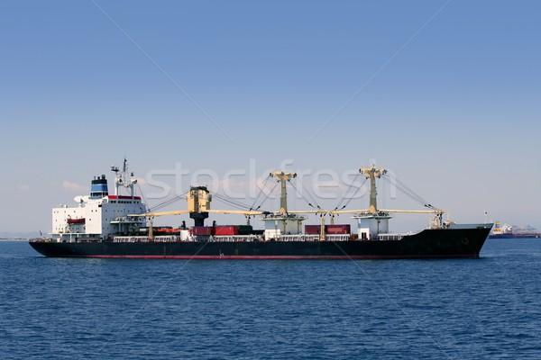 Teher konténer hajó vitorlázik mediterrán tenger Stock fotó © lunamarina