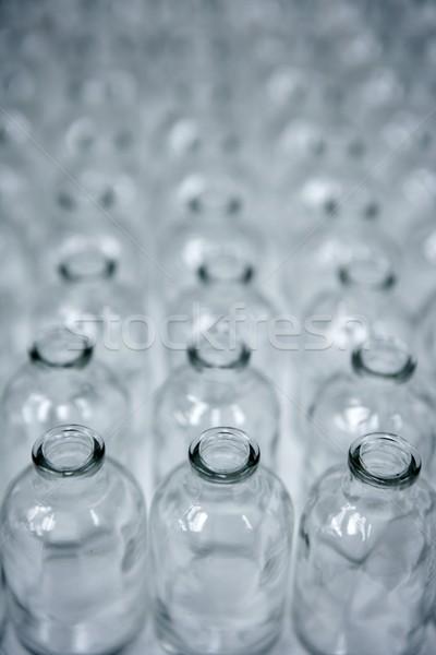 Glass transparent empty bottles assembly line Stock photo © lunamarina