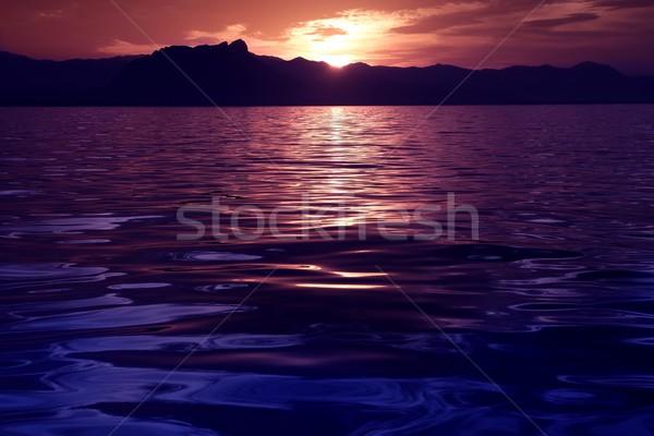 Beautiful seascape ocean sunset reflexion Stock photo © lunamarina