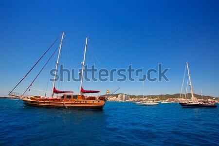 Ibiza San Antonio Abad Sant Antoni de Portmany sailboats Stock photo © lunamarina