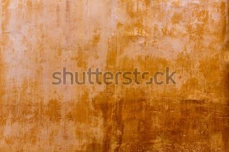 Menorca Ciutadellagolden grunge ocher facade texture Stock photo © lunamarina