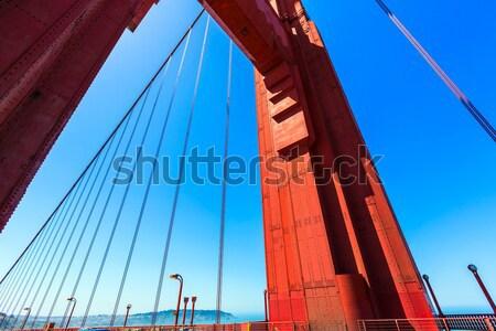 Golden Gate Köprüsü trafik San Francisco Kaliforniya ABD gökyüzü Stok fotoğraf © lunamarina