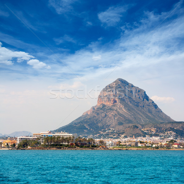 Javea Xabia port marina with Mongo mountain in Alicante Stock photo © lunamarina