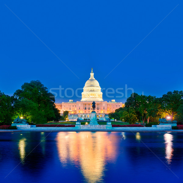 Capitol building sunset Washington DC congress Stock photo © lunamarina