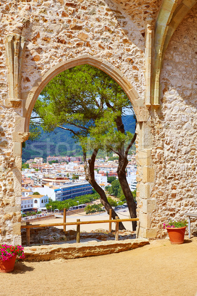 Tossa de Ma view from old church Costa Brava Stock photo © lunamarina