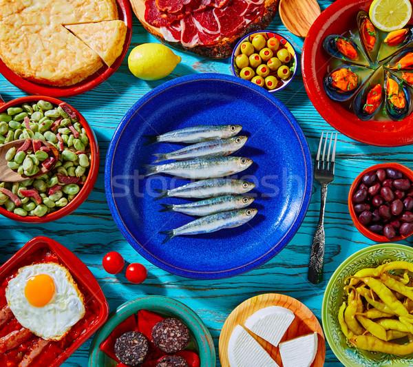 Tapas Spagna popolare ricette Foto d'archivio © lunamarina