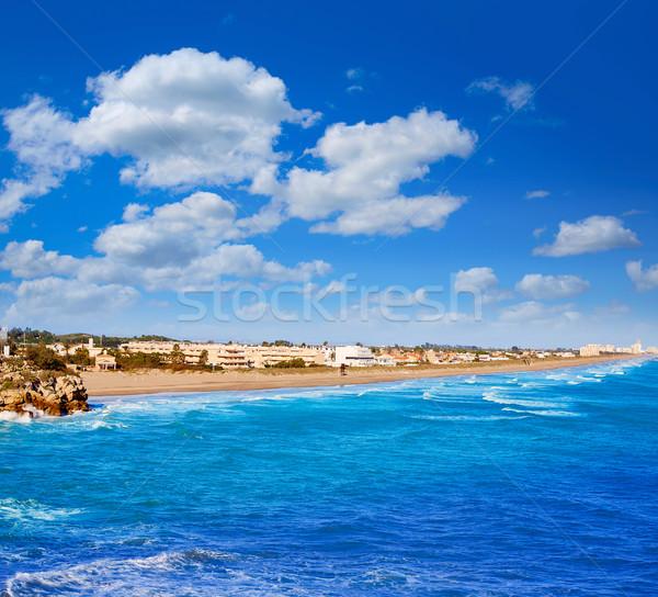 Plaj akdeniz İspanya deniz Valencia Stok fotoğraf © lunamarina