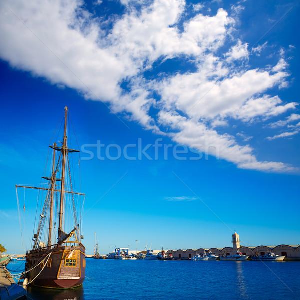 Kikötő promenád mediterrán Valencia Spanyolország tengerpart Stock fotó © lunamarina