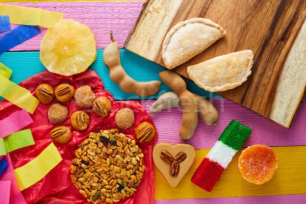 Meksika şekerleme hindistan cevizi bayrak gıda Stok fotoğraf © lunamarina