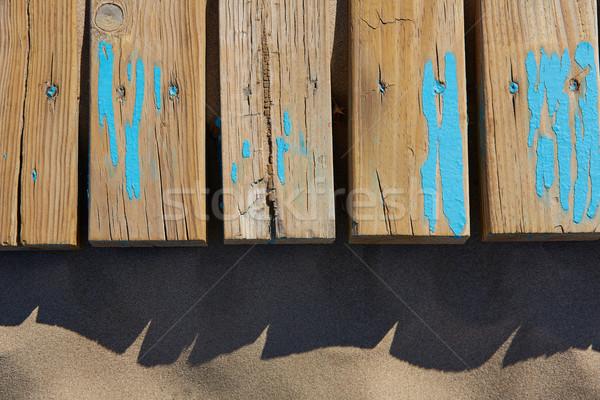 песчаный пляж текстуры древесины выветрившийся Сток-фото © lunamarina