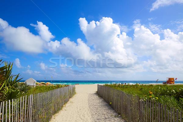 Miami güney plaj giriş Florida ABD Stok fotoğraf © lunamarina
