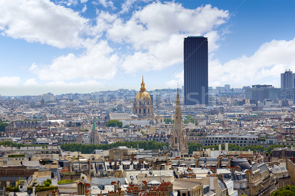 Paris skyline Invalides golden dome France Stock photo © lunamarina