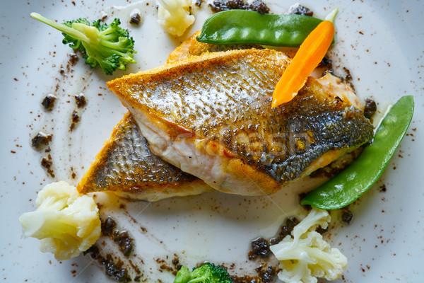 морем бас жареный овощей рецепт Сток-фото © lunamarina
