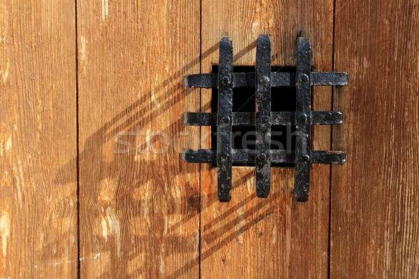 древних окна черный металл тюрьму сетке Сток-фото © lunamarina