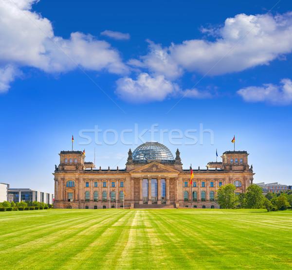 Reichstag Berlin building Deutscher Bundestag Stock photo © lunamarina