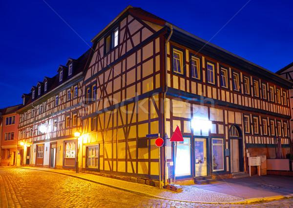 Stockfoto: Stad · zonsondergang · Duitsland · zomer · reizen · gebouwen