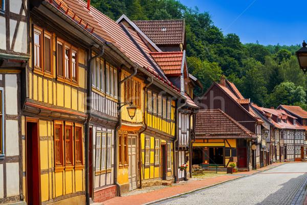 Stolberg facades in Harz mountains Germany Stock photo © lunamarina
