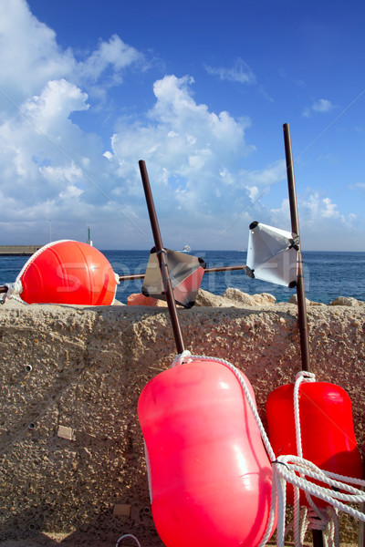 Longliner fisherboat buoy tackle Formentera Stock photo © lunamarina
