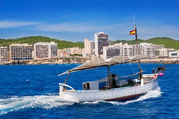 Ibiza boats in San Antonio de Portmany bay Stock photo © lunamarina