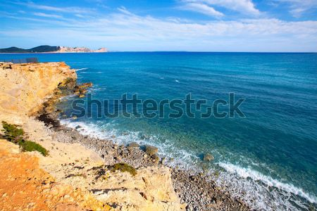 Balearic Mediterranean sea high view from Barbaria Stock photo © lunamarina