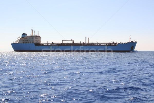chemical transport boat offshore sailing tanker Stock photo © lunamarina