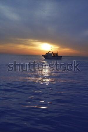 Сток-фото: закат · Восход · горизонте · синий · Средиземное · море
