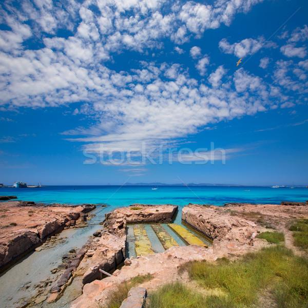Formentera Illetes channel to Estany Pudent Stock photo © lunamarina