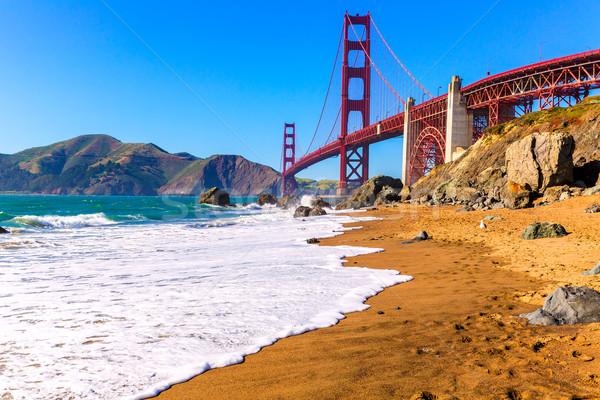 San Francisco Golden Gate Bridge plaży California USA niebo Zdjęcia stock © lunamarina
