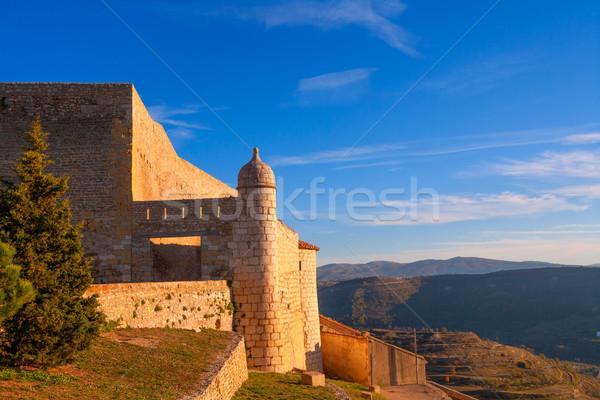 Castello fort Spagna costruzione città tramonto Foto d'archivio © lunamarina
