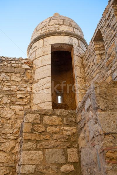 Castello fort torre Spagna montagna blu Foto d'archivio © lunamarina