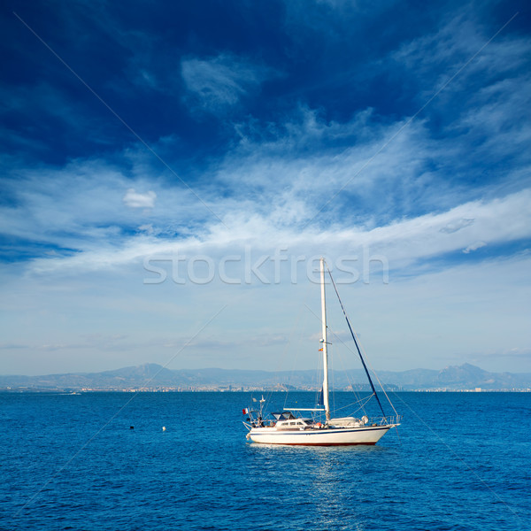 Tabarca islands boats in alicante Spain Stock photo © lunamarina