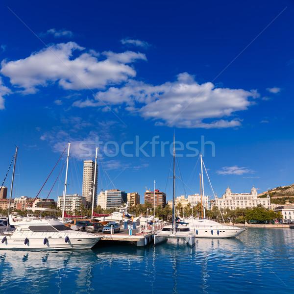 Jachthaven haven boten middellandse zee Spanje strand Stockfoto © lunamarina