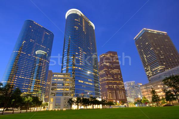 Хьюстон центра Skyline закат Техас современных Сток-фото © lunamarina