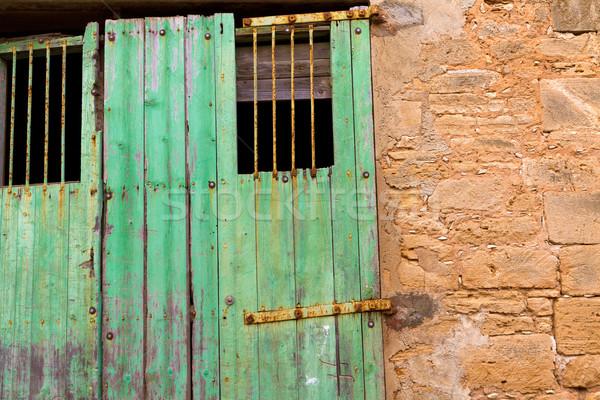 Oude binnenstad majorca eiland Spanje gebouw rock Stockfoto © lunamarina