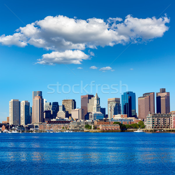Boston Massachusetts skyline porto USA business Foto d'archivio © lunamarina