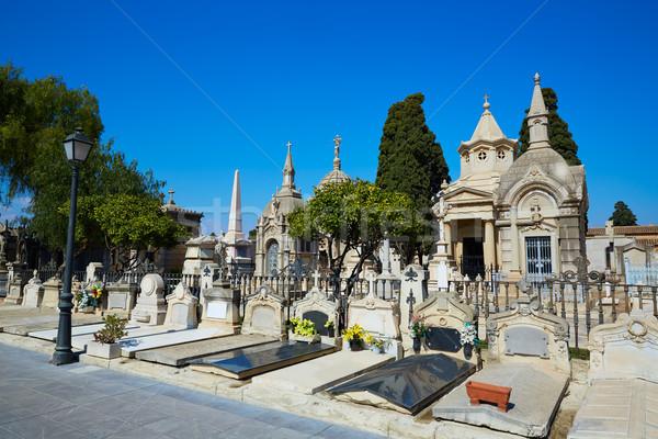 Valencia város helyhatósági temető Spanyolország temetés Stock fotó © lunamarina