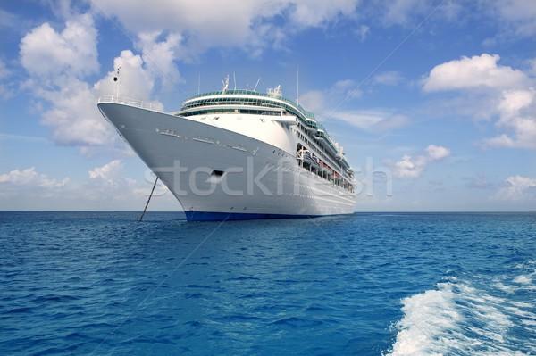 Crucero barco ancla Caribe mar México Foto stock © lunamarina