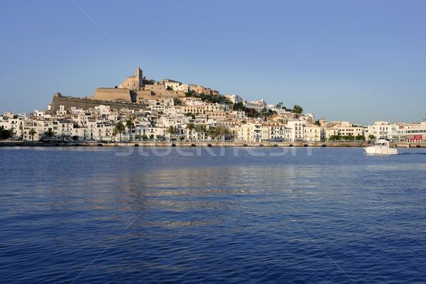 Ibiza Balearic Mediterranean white island in Spain Stock photo © lunamarina