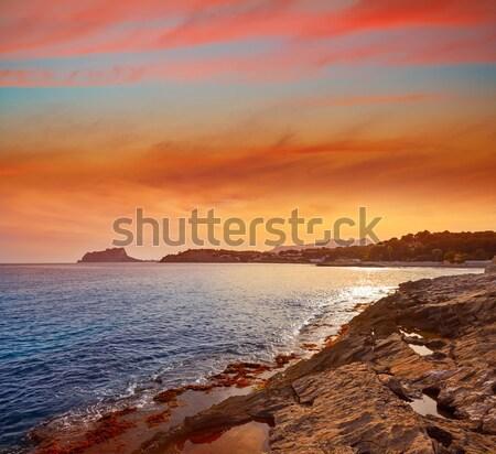Port Spanien Strand Wasser Sonne Stock foto © lunamarina