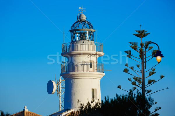 Deniz feneri Valencia İspanya akdeniz deniz plaj Stok fotoğraf © lunamarina