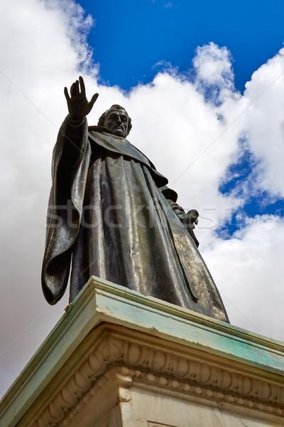 Rzeźba uczelni Hiszpania miasta niebieski podróży Zdjęcia stock © lunamarina