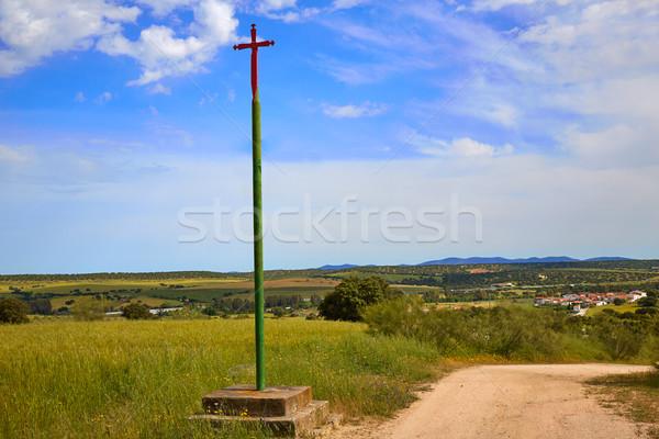 Via de la Plata way cross to Santiago Spain Stock photo © lunamarina