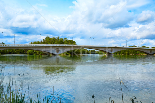 Zamora Poetas bridge over Duero river Spain Stock photo © lunamarina