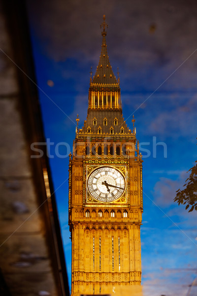 Big Ben horloge tour réflexion Londres Photo stock © lunamarina